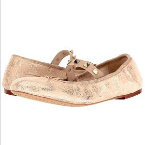 Vince Camuto Leather Strappy Studded Ballet Flat 8